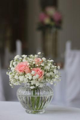 Dekoverleih Vase geriffelt klein