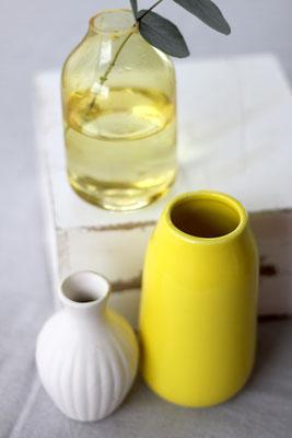 Dekoverleih Vase Gelb