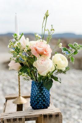 Dekoverleih Vase Blau