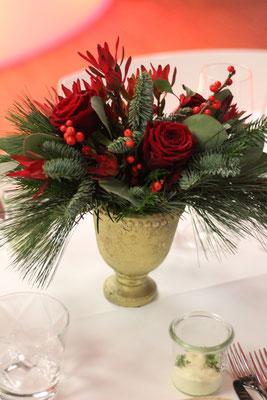 Tischdekoration Weihnachten; Foto: Mariska Rümmelein