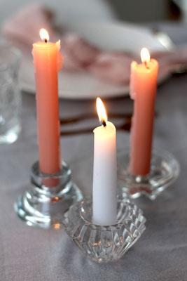 Dekoverleih Kerzenhalter Stabkerzen Klarglas