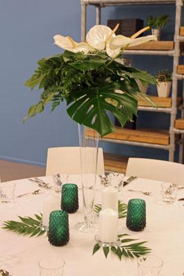 Greenery Eventdekoration //  Foto: Mariska Rümmelein
