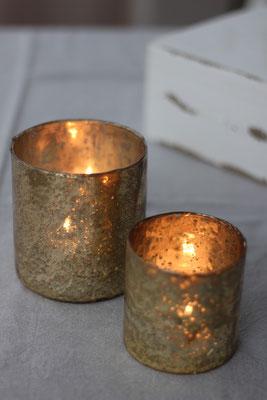 Dekoverleih Teelichthalter Gold
