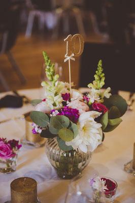 Dekoverleih Vase geriffelt groß