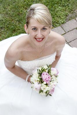 Pfingstrosen-Brautstrauß