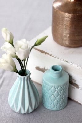 Dekoverleih Vase Mint mit Struktur