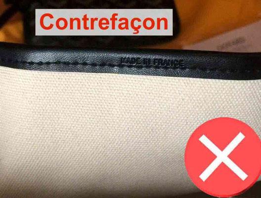 toile intérieur sac goyard contrefacon fake