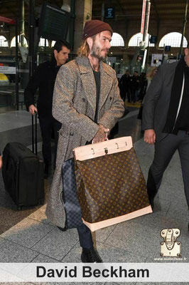 David beckham star steamer bag collection Louis Vuitton