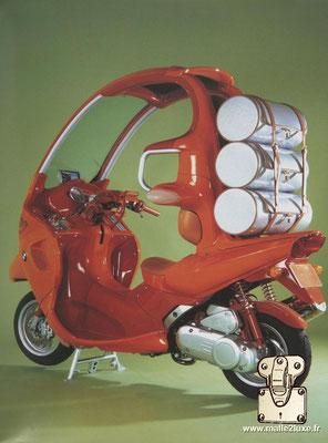 scooter Louis Vuitton et BMW unicef