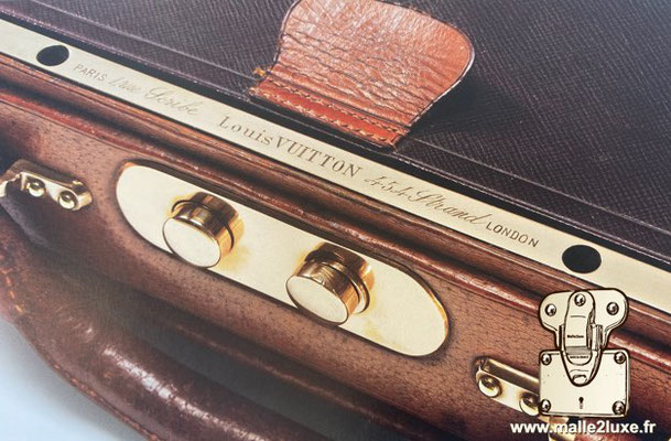 Antique louis vuitton bag lock trunk