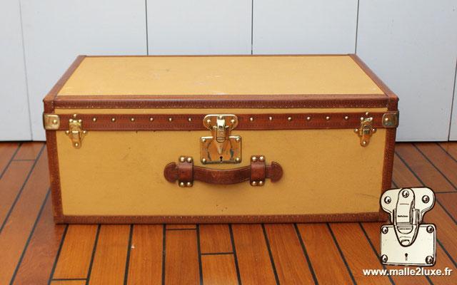 serrure de malle ancienne louis vuitton valise jaune