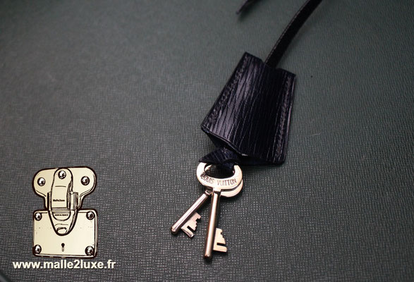 valise president Louis Vuitton monogram vintage cles