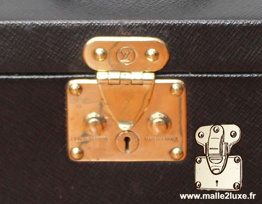 New generation of Louis VUITTON Malle locks double trunk