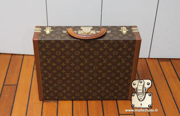 valise president Louis Vuitton monogram vintage dessus