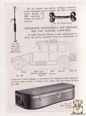 Malle limousine Moynat beige catalogue d'epoque