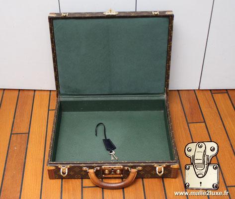 valise president Louis Vuitton monogram vintage intérieur parfait