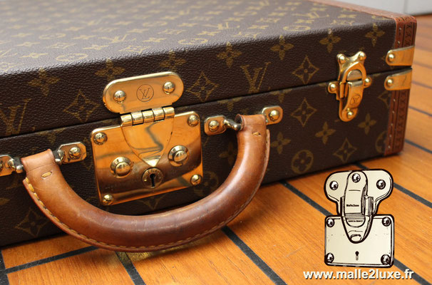 valise president Louis Vuitton monogram vintage serried laiton