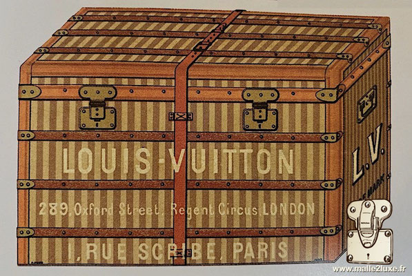 Louis Vuitton chest gray canvas steel label