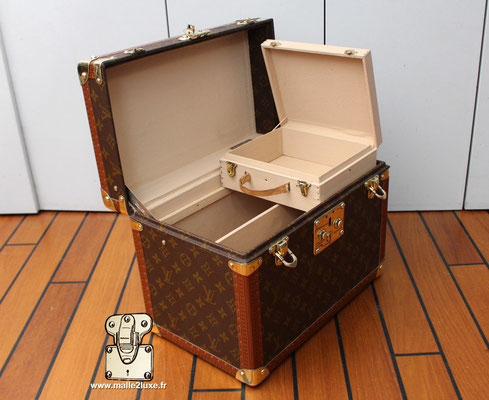 Vanity Louis Vuitton toile monogram 1990 intérieur avec boite