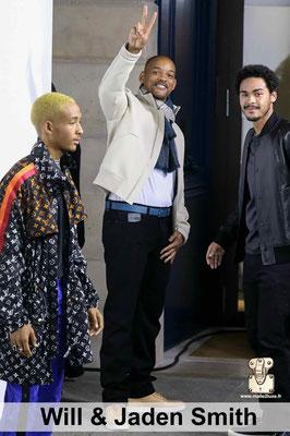 Will smith et ses deux enfants qui aime Louis Vuitton c'est beau et c'est cher mais ca reste chic