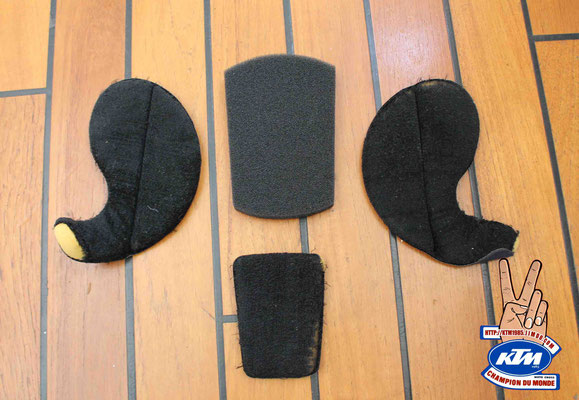 Mousse intérieur casque jt racing ALS 1 2 usa Vintage