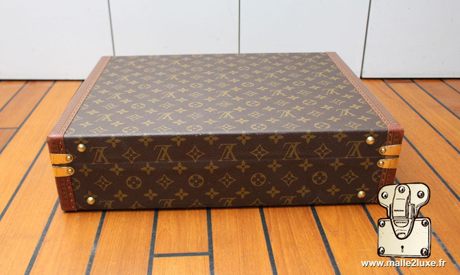 valise president Louis Vuitton monogram vintage arriére