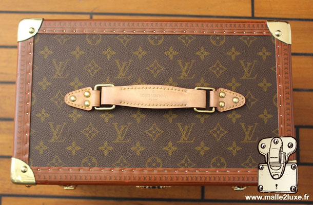 Vanity Louis Vuitton toile monogram 1990 poignée cuir