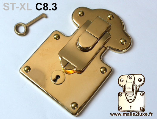 serrure malle ancienne pour création trunk new lock key