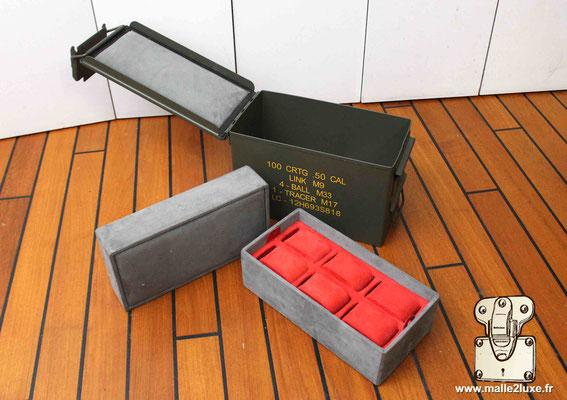 boite a 6 montres luxe sur mesure militaire rolex