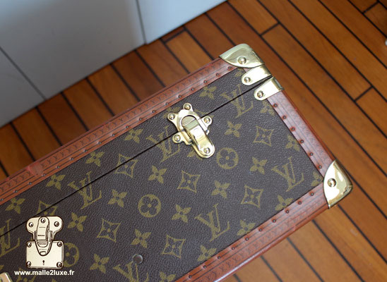 Valise bisten Louis Vuitton 80 fermoir laiton
