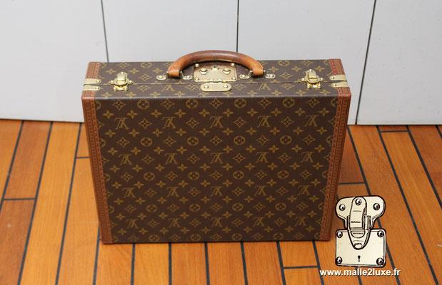 valise president Louis Vuitton monogram vintage dessous