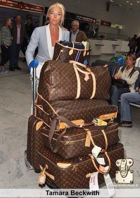 Tamara beckwith célébrités adore voyage avec des Malle Louis Vuitton et des sacs a main