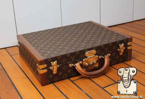 valise president Louis Vuitton monogram vintage coin