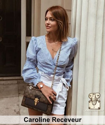 Caroline receveur adore Louis Vuitton surtout quand il la paye tres cher pour faire un instagram