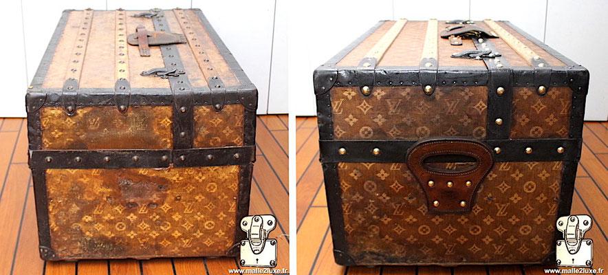 Malle ideale Louis Vuitton toile tissé mini