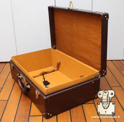 Valise cuir bisten gain anglais 1926 Louis Vuitton