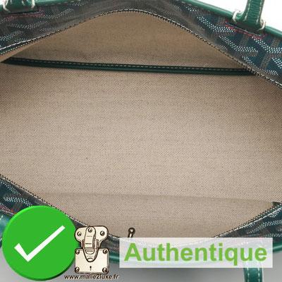 canvas interior genuine goyard bag real love it
