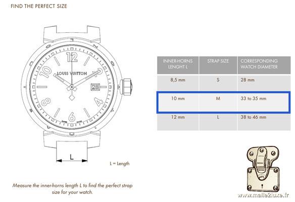 quel bracelet pour ma montre Louis Vuitton