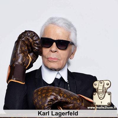 Karl Lagerfeld aime les malles louis vuitton