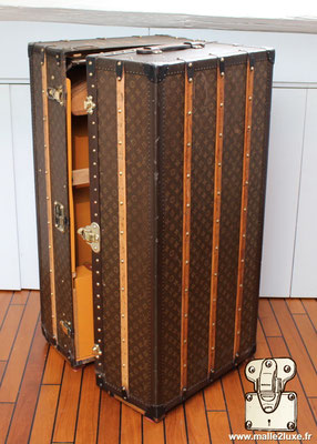louis vuitton coated canvas trunk