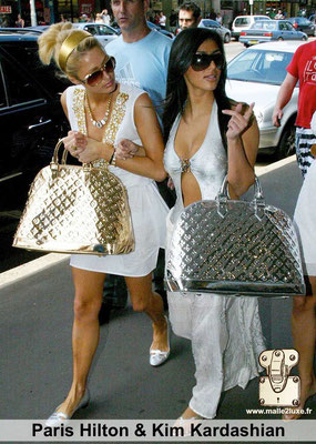 Paris hilton et kim kardashian adore les sacs a main Louis Vuitton paris