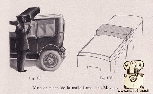 Malle limousine Moynat beige magnique