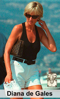 Diana aime les malles louis vuitton