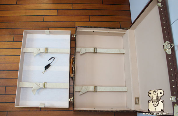 Valise alzer 70 Louis Vuitton vintage interieur