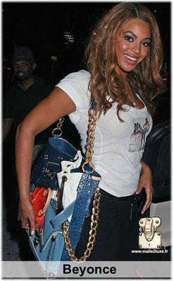 Beyonce adore le luxe francais, champagne mais aussi sac a main Louis Vuitton