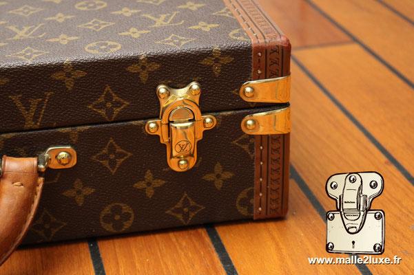 valise president Louis Vuitton monogram vintage fermoir laiton