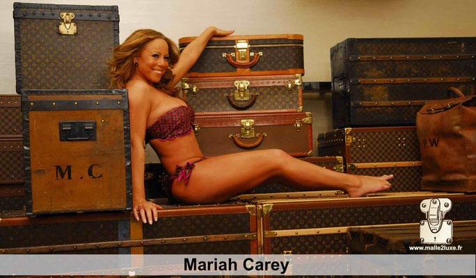 Maria Mariah Carey aime Louis Vuitton malle trunk bag vintage love star