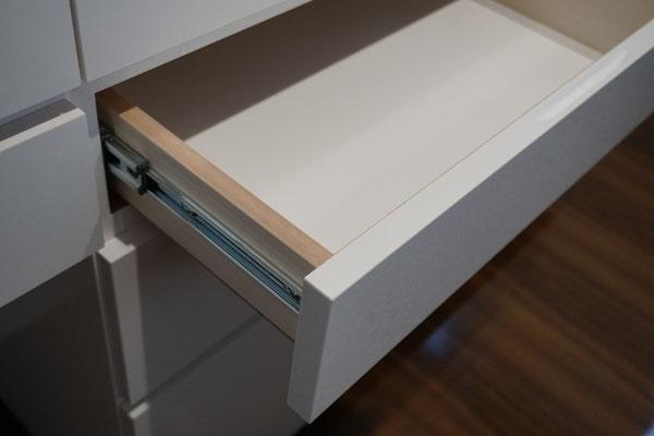 キッチン収納 カップボード 引き出しフルオープン