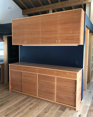 キッチン収納家具 カップボード チェリー