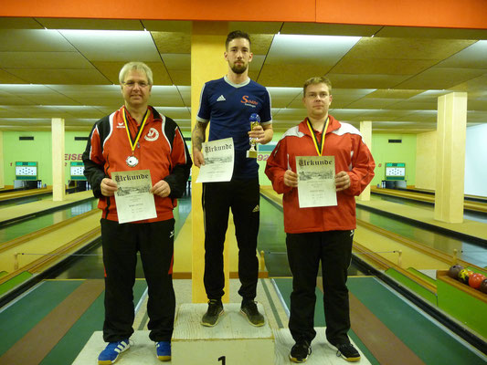 1. Platz Michael Osswald, 2. Platz Dieter Mohr, 3. Platz Mike Winter